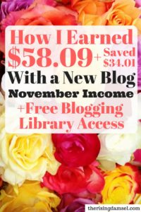 The Rising Damsel - Eighth Blog Income and Traffic Report